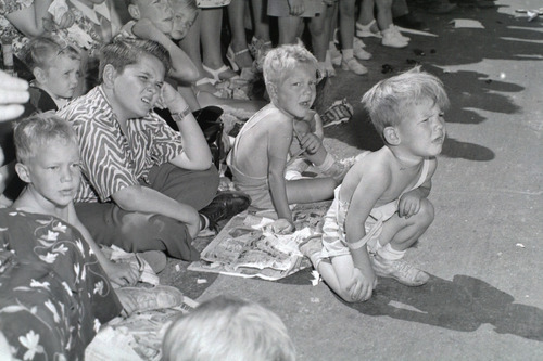 Tribune file photo  Children watch the Days of '47 Parade on July 24, 1947.