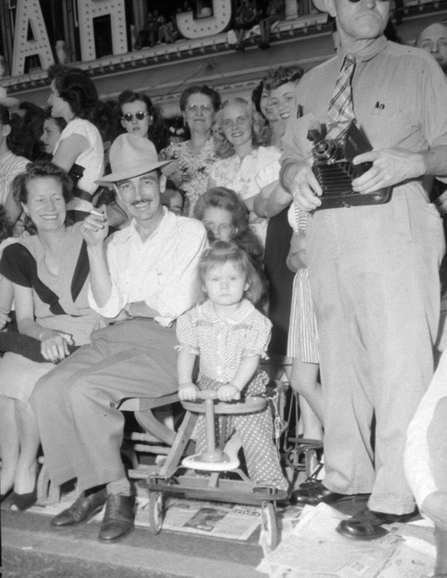 Tribune file photo  People pose for a photo during the Days of '47 Parade on July 24, 1947.