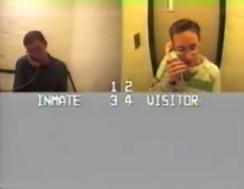 Warren Jeffs, right, is seen on the phone with his brother, Nephi, renouncing his role as the leader and prophet of the FLDS church while in jail.