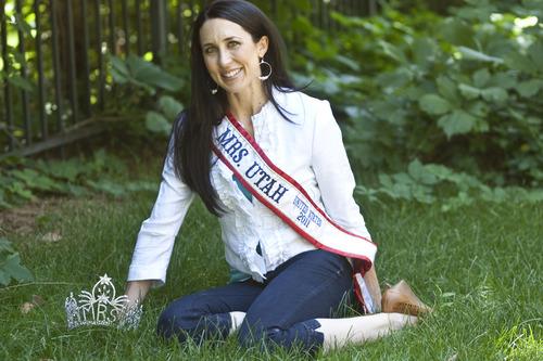 Chris Detrick | The Salt Lake Tribune  Mrs. Utah Tiffany Alleman poses for a portrait at her home Saturday July 23, 2011.