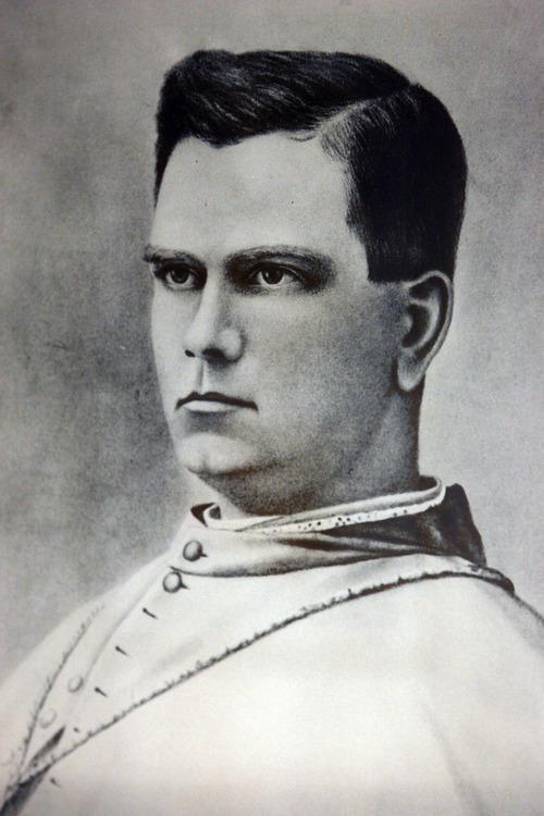Salt Lake City - The Rev. Lawrence Scanlan - 1891-1915 -- Utah's first Catholic bishop.  Photo by Francisco Kjolseth/The Salt Lake Tribune 7/31/2009