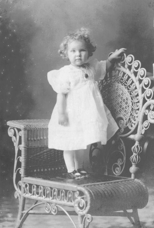 A young Helen Foster looks outward. Courtesy BYU Special Collections