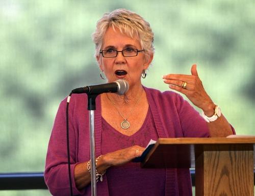Rick Egan  I The Salt Lake Tribune Rep. Carol Spackman Moss, the keynote speaker at the