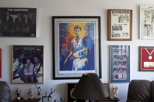 Chris Detrick | The Salt Lake Tribune  Jazz memorabilia at former Utah Jazz Coach Frank Layden's home.