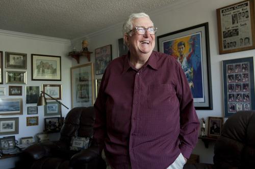 Chris Detrick | The Salt Lake Tribune  Former Utah Jazz Coach Frank Layden poses for a portrait Wednesday July 27, 2011.