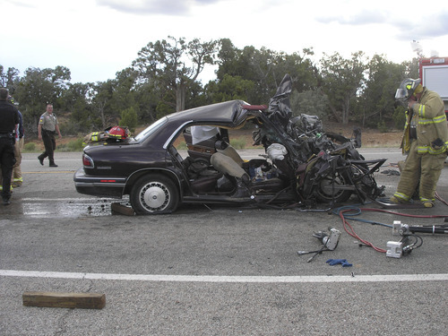 Photo courtesy Utah Highway Patrol A Blanding couple died and two other people were injured Monday evening in a car crash on State Road 191.