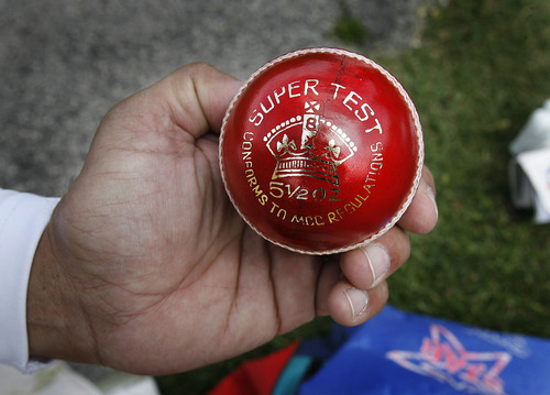 Scott Sommerdorf  |  The Salt Lake Tribune Salt Lake Cricket Union captain Nasir Khan, a former professional cricket player holds the ball used for Cricket, Sunday July 31, 2011 at Terrace Hill Park in Salt Lake City.