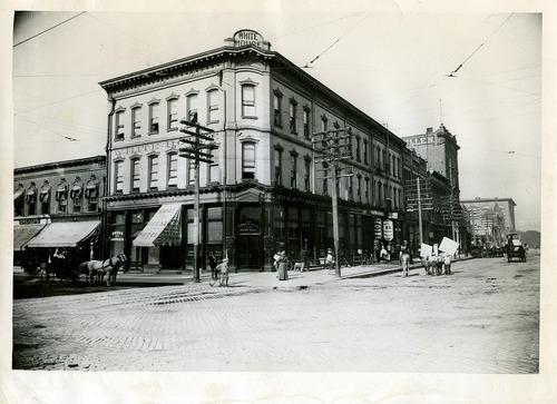 Salt Lake Tribune file photo  Salt Lake City's White House Hotel on the southwest corner of 200 South and Main Street in 1896.