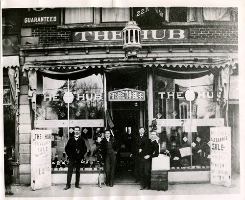 Salt Lake Tribune file photo  This photo from the late 1890s shows The Hub clothing store in Logan, Utah.