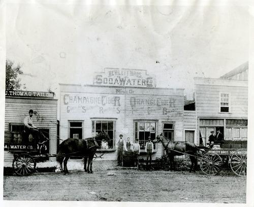 Salt Lake Tribune file photo  This photo from 1890 shows the Hewlett Bros. Soda Water Co. in Logan, Utah.