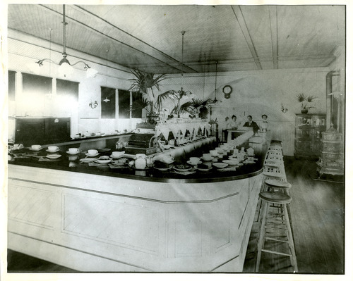 Salt Lake Tribune file photo  This undated photo shows a diner counter at the Rio Grande Western station in Helper, Utah.