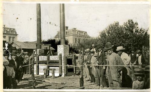 Salt Lake Tribune file photo  People gather around Salt Lake City's first crematory in 1877.