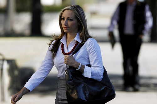 Rebecca Musser, a former member of the polygamy sanctioning Fundamentalist Church of Jesus Christ of Latter-Day Saints, walks into the Tom Green County Courthouse, Saturday, Aug. 6, 2011, in San Angelo, Texas. Musser was the second witness called by the state in the penalty phase in the trial of Warren Jeffs, the 55-year-old leader and prophet of the FLDS who was convicted Thursday by a Tom Green County jury of sexual assault of a child and aggravated sexual assault of a child. (AP Photo/San Angelo Standard-Times, Patrick Dove)