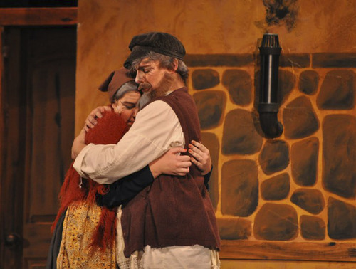 Bailey Claeys (Golde), left, and Aaron Wilcox(Tevye). Wilcox, a senior at Legacy Preparatory, was named Best High School Actor by the Utah High School Musical Awards for his performance at the school's production of Fiddler on the Roof. Courtesy Photo