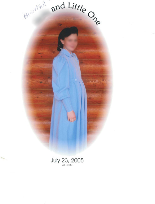 Courtesy photo A photo entered into evidence during the Texas trial of Warren Jeffs showing one of his sexual assault victims pregnant. Jeffs took her as a wife at the age of 15. The girl's face has been blurred as The Salt Lake Tribune does not identify victims of sexual assault.