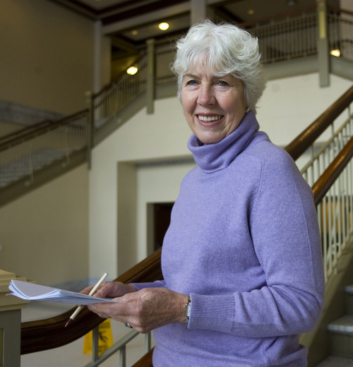 Al Hartmann  |  The Salt Lake Tribune  Dee Rowland, a longtime peace activist, has been the government liaison-lobbyist for the Salt Lake City Catholic Diocese for 26 years.  She's retiring after the 2011 legislative session.