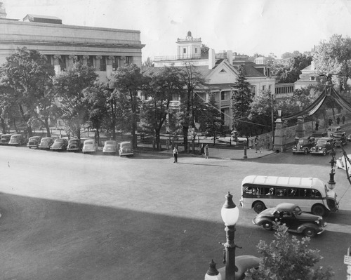 Salt Lake Tribune file photo  This photo shows the intersection of State Street and South Temple in 1943.