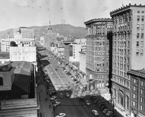 Salt Lake Tribune file photo  This undated photo shows a view of Main Street looking north from 400 South.