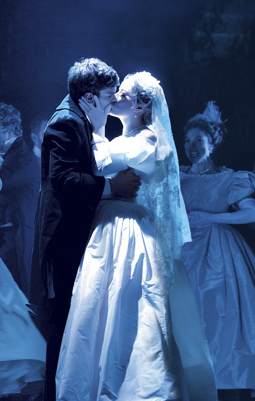Photo courtesy MagicSpace Entertainment Orem native Jenny Latimer plays Cosette alongside Justin Scott Brown, who plays Marius, in the 25th-anniversary production of