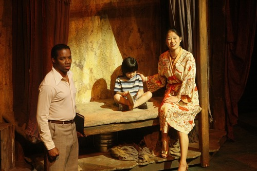 Rodney Hicks, who plays the role of John, Shannon Tyo and Victoria To, during a performance of