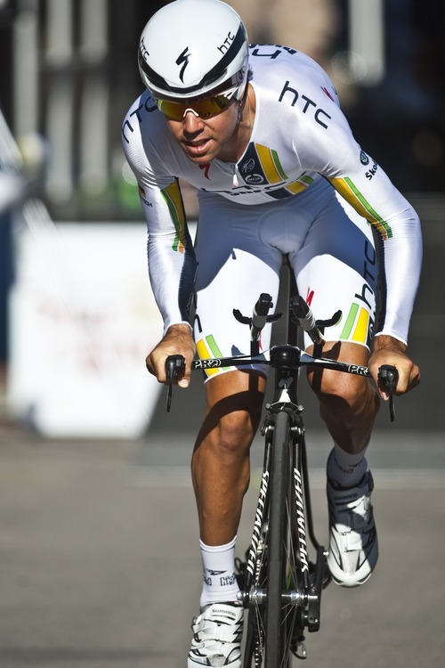 Chris Detrick  |  The Salt Lake Tribune Lachian Norris competes during the Stage 3 time trial of the Tour of Utah at Miller Motorsports Park Friday August 12, 2011.