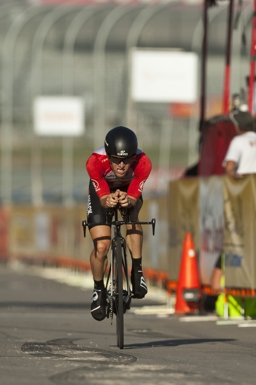 Chris Detrick  |  The Salt Lake Tribune Levi Leipheimer competes during the Stage 3 time trial of the Tour of Utah at Miller Motorsports Park Friday August 12, 2011. Leipheimer finished in second place with a time of 17:39.58.