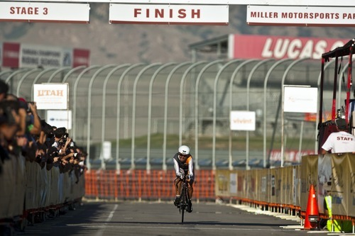 Chris Detrick  |  The Salt Lake Tribune Francisco Mancebo Perez competes during the Stage 3 time trial of the Tour of Utah at Miller Motorsports Park Friday August 12, 2011.