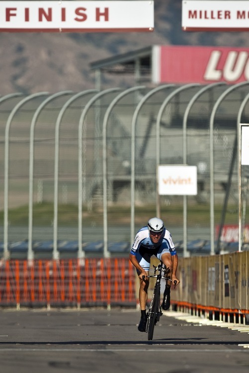Chris Detrick  |  The Salt Lake Tribune Tejay Van Garderen competes during the Stage 3 time trial of the Tour of Utah at Miller Motorsports Park Friday August 12, 2011. He won with a time of time of 17:33.64.