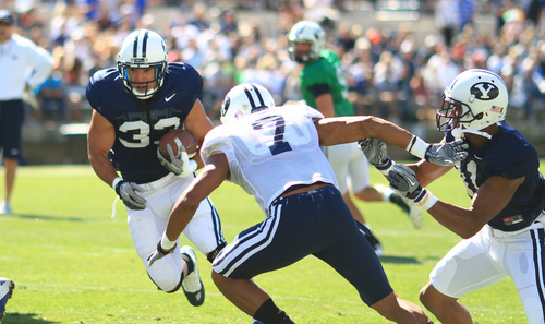 BYU football: Scrimmage's opening kickoff costs Cougars a ...