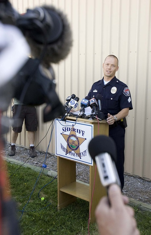 Trent Nelson  |  The Salt Lake Tribune West Valley City public information officer Mike Powell speaks at a press conference regarding the 2009 disappearance of Susan Powell, in Ely, Nev., Friday, Aug. 19, 2011.