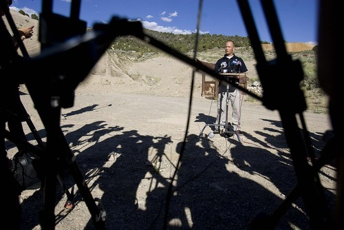 Trent Nelson  |  The Salt Lake Tribune Sgt. Mike Powell of the West Valley City police department addresses the media after WVC investigators spent the day searching abandoned mine shafts west Ely, Nevada, on Friday Aug. 19, 2011 as part of the investigation into the 2009 disappearance of Susan Powell.