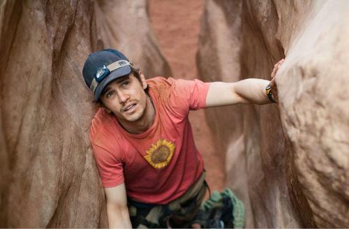 James Franco plays rock climber Aron Ralston in