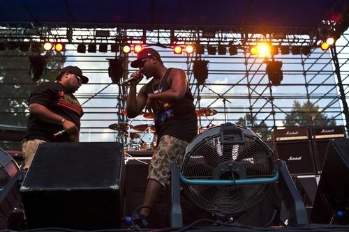 Chris Detrick  |  The Salt Lake Tribune Big K.R.I.T. performs during the Twilight Concert Series at Pioneer Park Thursday August 25, 2011.