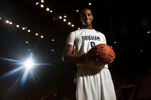 Chris Detrick     The Salt Lake Tribune  Brandon Davies poses for a portrait during the BYU men's basketball media day at the Marriott Center on Wednesday, Oct. 13, 2010.