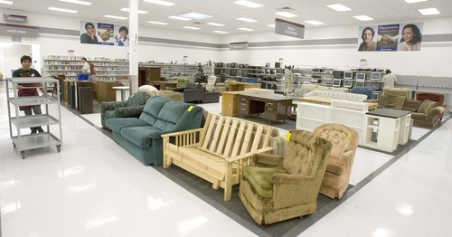 Paul Fraughton The Salt Lake Tribune Used Furniture Department At New Deseret
