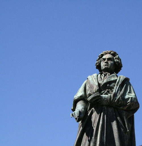 Statue of Ludwig van Beethoven on the Bonner Munster Place, near his birthplace. (Courtesy photo)