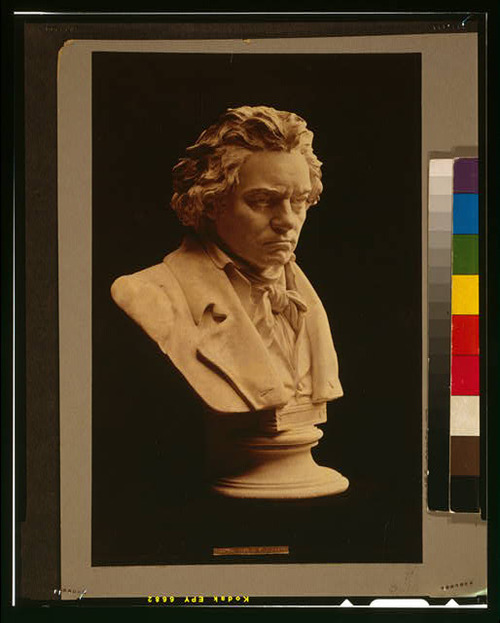 Courtesy photo Bust statue of composer Ludwig van Beethoven by Hugo Hagen , created from the life mask by Franz Klein done in 1812.