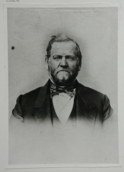 Francisco Kjolseth  |  The Salt Lake Tribune Pictured is Orson Hyde (1805-1878), a member of the Council of Twelve Apostles of The Church of Jesus Christ of Latter-day Saints 1835-78, and a member of the Legislative Assembly.