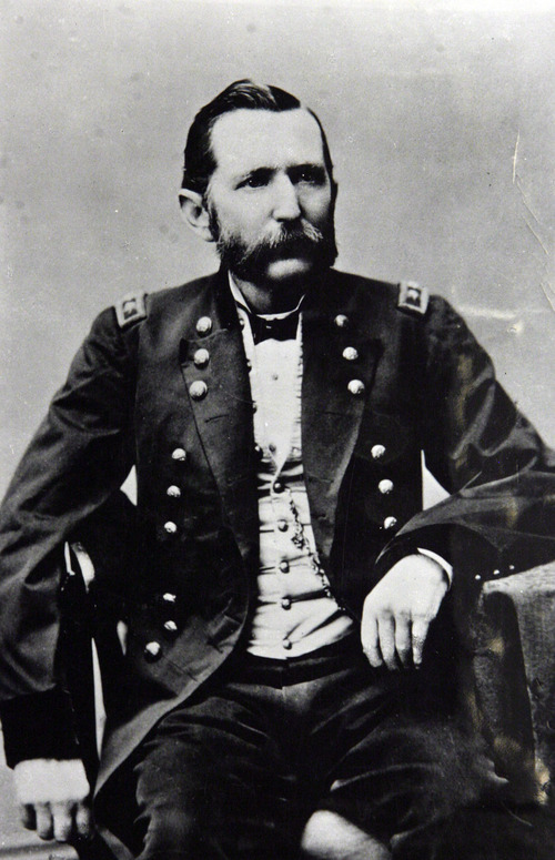 Francisco Kjolseth     The Salt Lake Tribune Pictured is Maj. Gen. Patrick Edward Connor Breve, U.S. Volunteers. Courtesy Utah Historical Society.