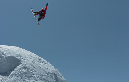 In this May 8, 2011 photo, Scotty Lago hits a jump during the filming of the documentary