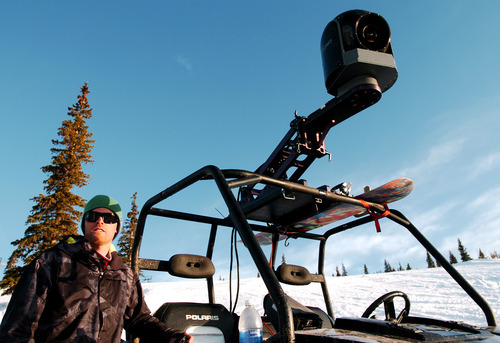 In this May 8, 2011 photo, Chad Jackson, a producer for the snowboarding documentary