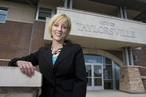 Paul Fraughton  |  The Salt Lake Tribune   Aimee Winder Newton is the new director of marketing and communications for the city of Taylorsville.   Tuesday, August 30, 2011