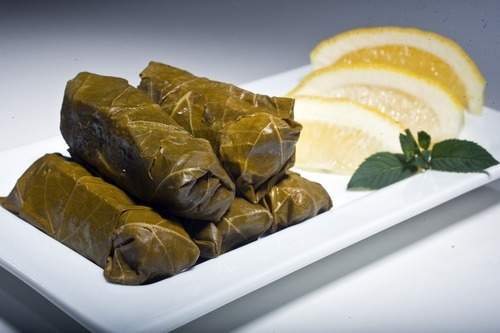 Chris Detrick  |  The Salt Lake Tribune Stuffed grape leaves, or dolmathes.