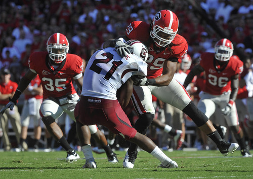 Top 25 football: South Carolina beats Georgia 45-42 in SEC ...