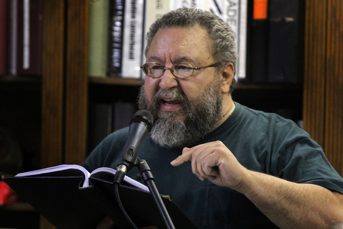 Rick Egan   |  The Salt Lake Tribune  Poet Alex Caldiero will perform Sept. 24 at Mestizo Coffeehouse as part of