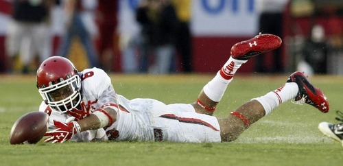 Chris Detrick  |  The Salt Lake Tribune Utah Utes wide receiver Dres Anderson (6) can't make a catch during the second half of the game at the Los Angeles Memorial Coliseum Saturday September 10, 2011.