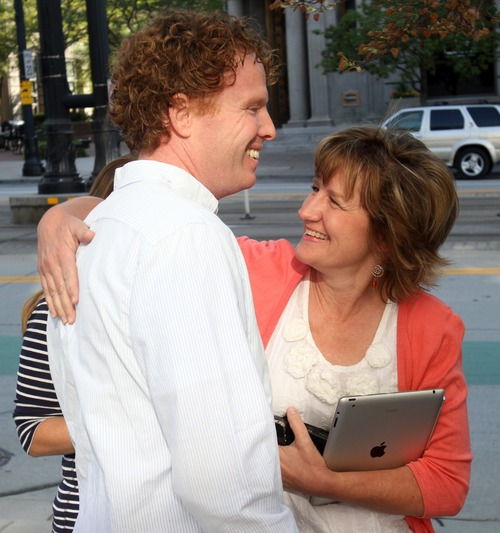 Rick Egan  | The Salt Lake Tribune   Jeremy Johnson gets a hug from his aunt, Marianne Ruben, as he leaves the federal courthouse in Salt Lake City, Thursday, Sept. 15, 2011.