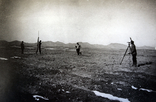 Tribune file photo Circa 1912, Jewish settlers survey land that became Clarion. At right is Russian Jewish immigrant Isacc Herbst. Clarion was the work of Jewish settlers in the early 1900s. After several setbacks, the settlement near Gunnison failed and was abandoned. Photos courtesy of Bob Goldberg