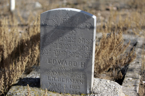 Tribune file photo The headstone of Edward H. Lieberman marks where the Clarion settlement once stood.