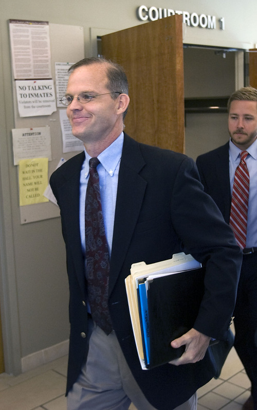 Al Hartmann  |  The Salt Lake Tribune Provo Councilman Steve Turley, here leaving a recent court hearing about the felony charges he faces, is staring at mounting pressure to step down after an ethics investigation noted a number of violations.
